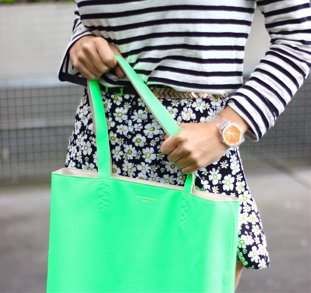 Paul's boutique neongroene shopper2