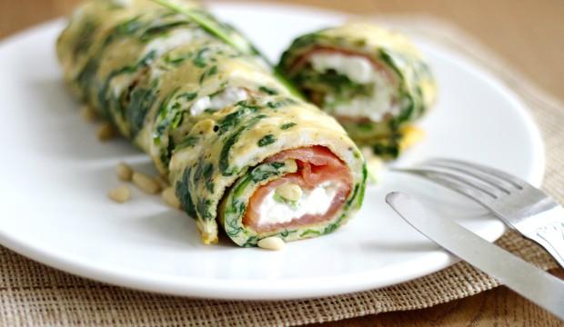Spinazie omelet met zalm2
