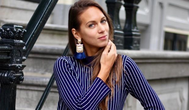 blauwe-gestreepte-jurk