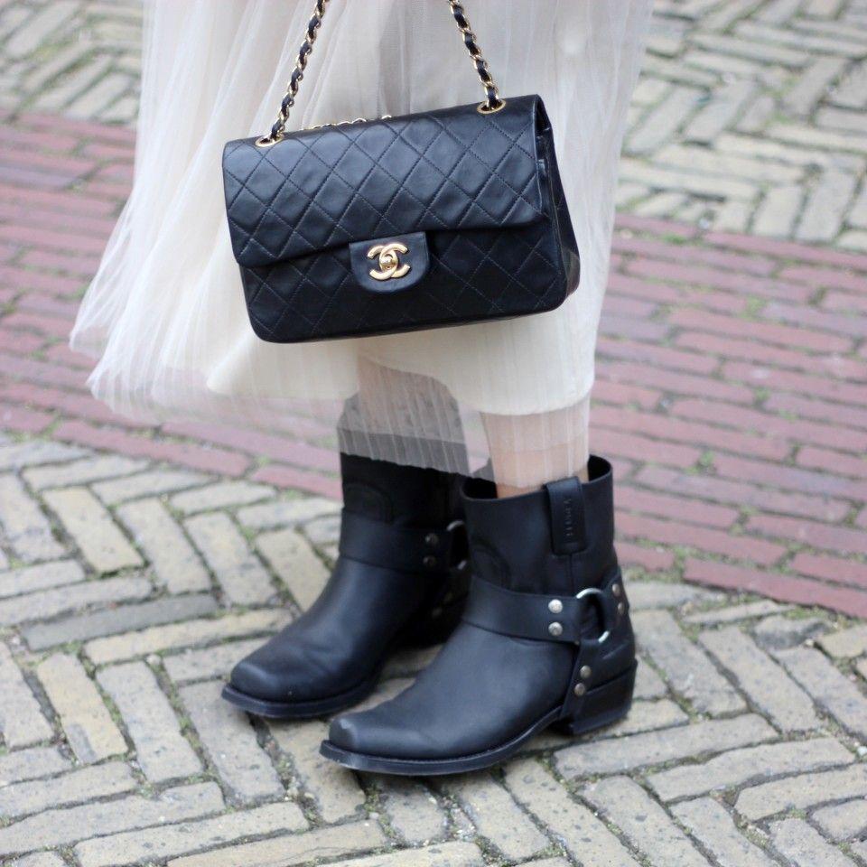 Zwarte cowboy laarzen
