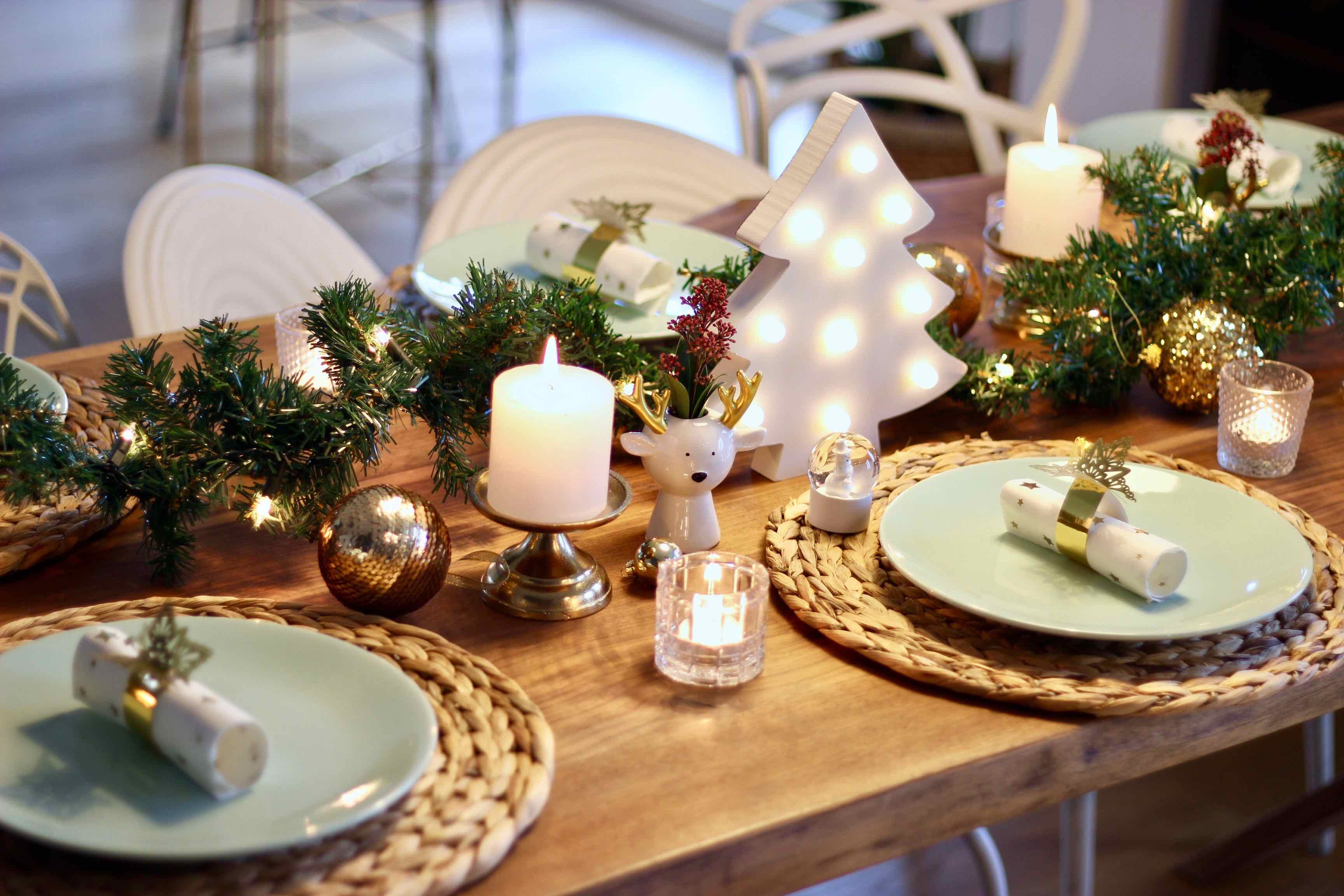 tafel styling kerst ideeen